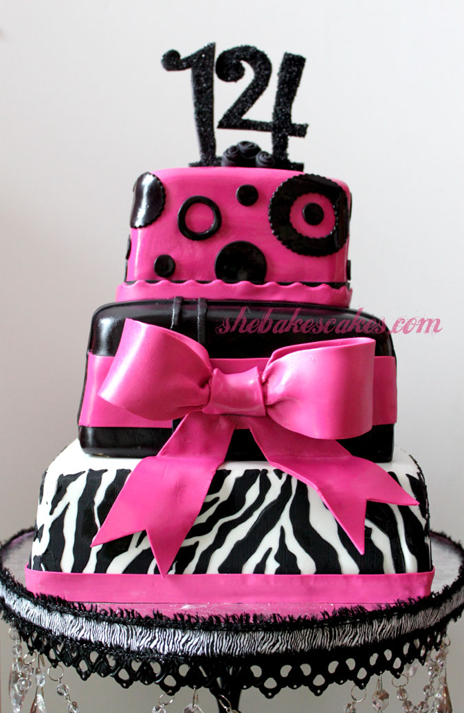 9 14 Cakes Fondant Photo Pink Zebra Birthday Cake 14 Birthday