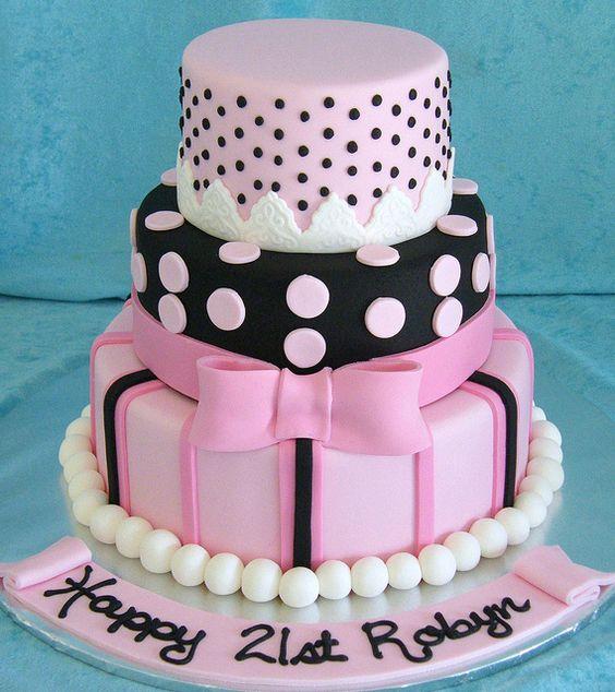 6 Pretty Birthday Cakes For Girls 19 Photo Pretty Fondant Birthday