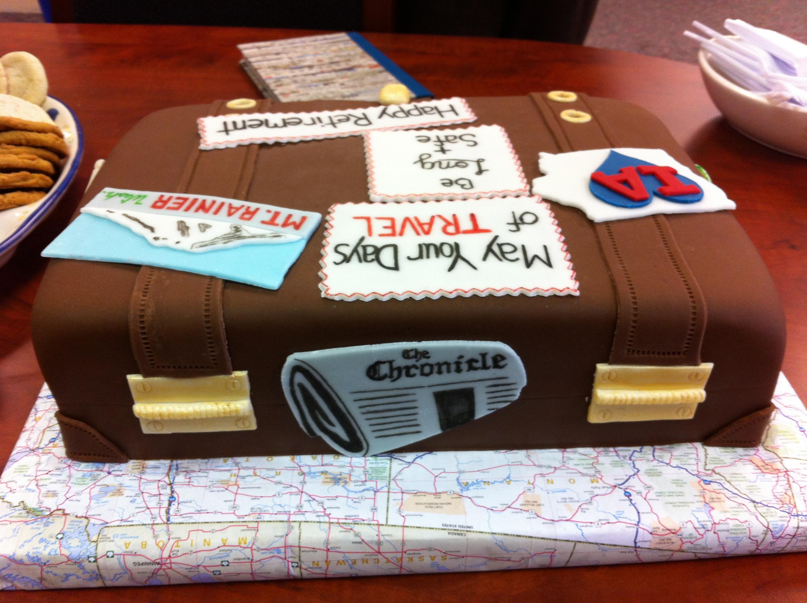10 Happy Retirement Suitcase Cakes Photo Retirement Luggage Cake