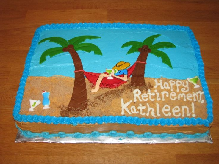 Retirement Sheet Cake Ideas