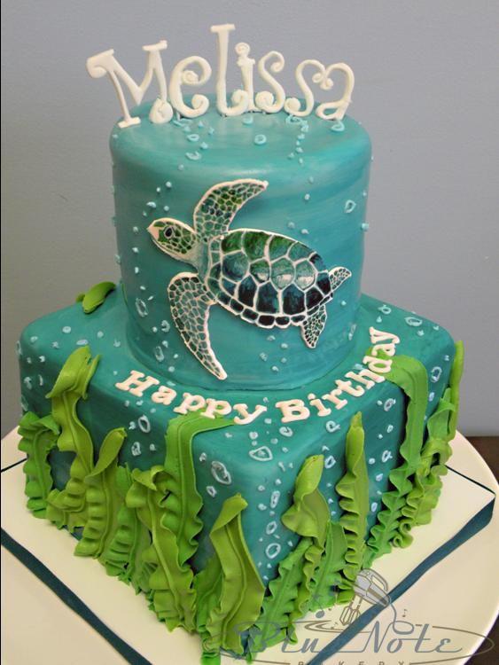 Fantastic 12 Teen Birthday Cakes Sea Turtle Photo Sea Turtle Birthday Cake Personalised Birthday Cards Veneteletsinfo