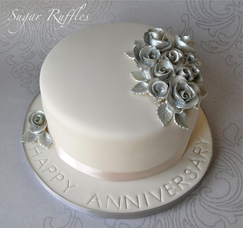 12 Elegant 25th Wedding Anniversary Cakes Photo 25th Wedding