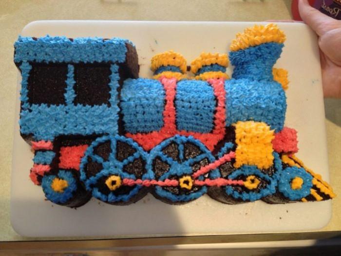 Admirable 9 Train Birthday Cakes For Girls Photo Train Birthday Cake Personalised Birthday Cards Veneteletsinfo