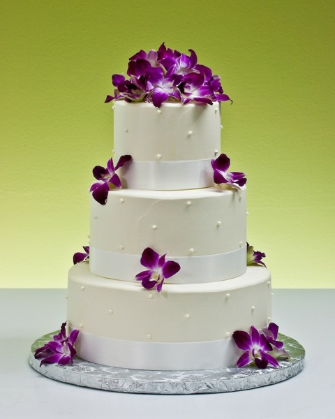 8 Photos of Cakes With Orchid Decorations