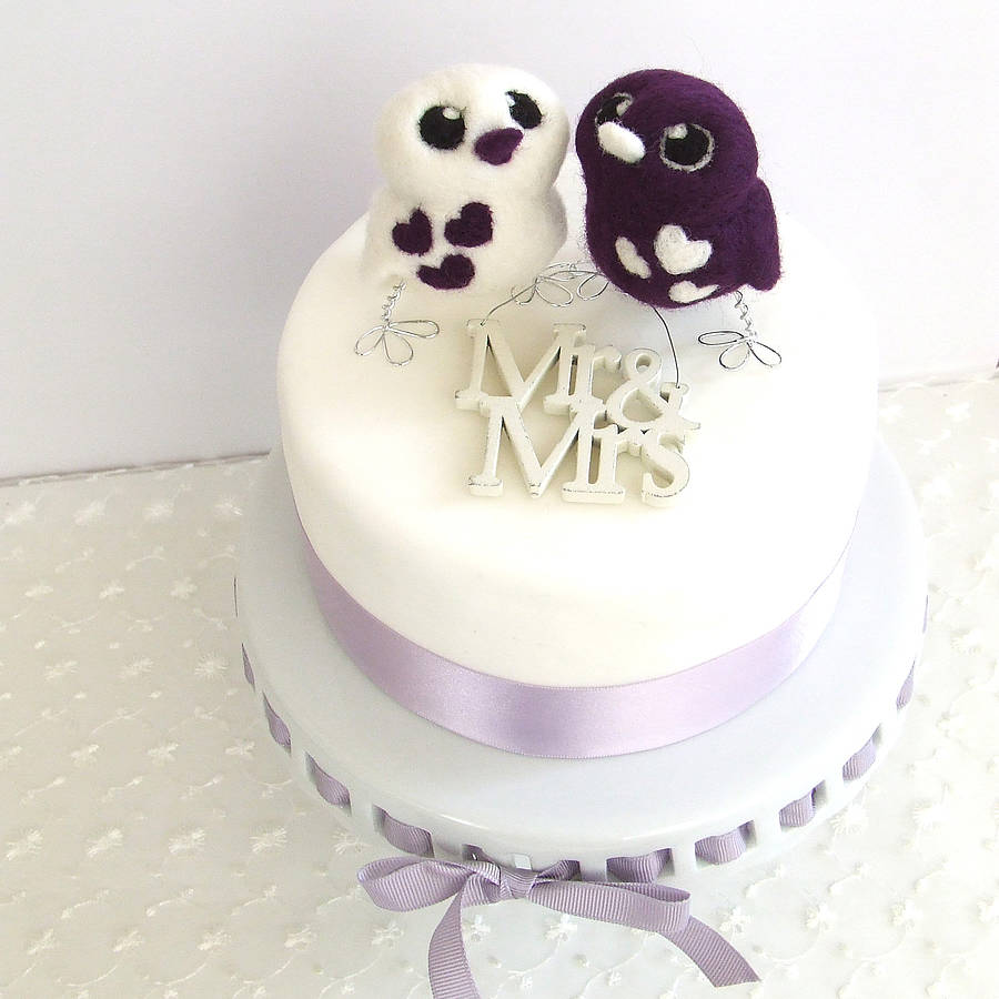 With Love Birds Wedding Cake Topper