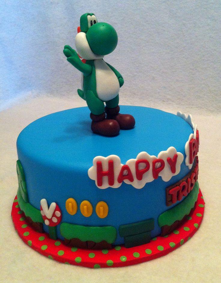 Swell 11 Super Mario Bros Cakes Houston Photo Yoshi Super Mario Funny Birthday Cards Online Necthendildamsfinfo
