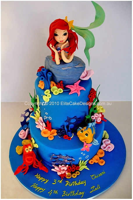 9 Disney Ariel Little Mermaid Cakes Photo Little Mermaid Wedding