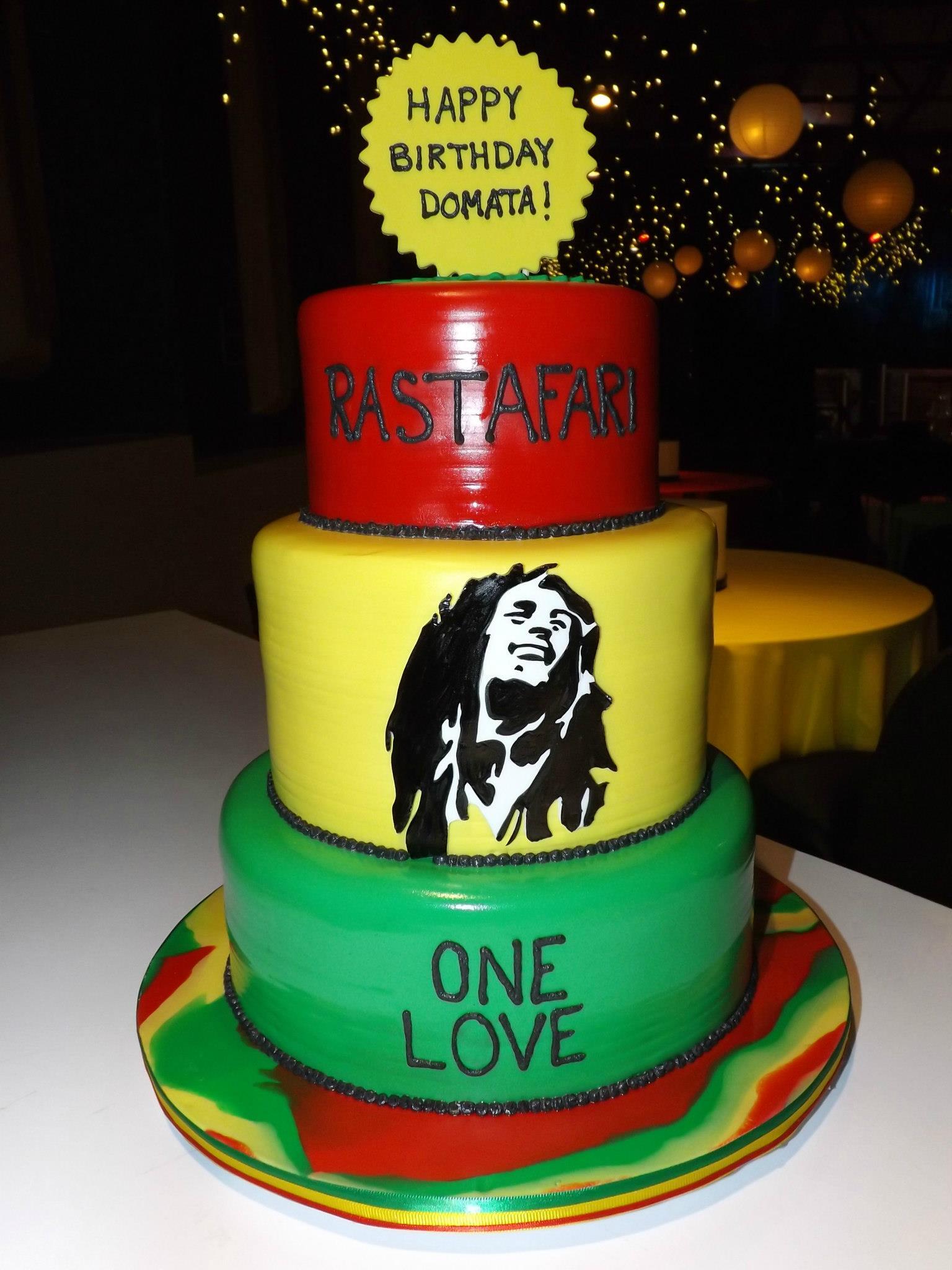 Miraculous 12 Rasta Themed Birthday Cakes Photo Bob Marley Birthday Cake Funny Birthday Cards Online Elaedamsfinfo