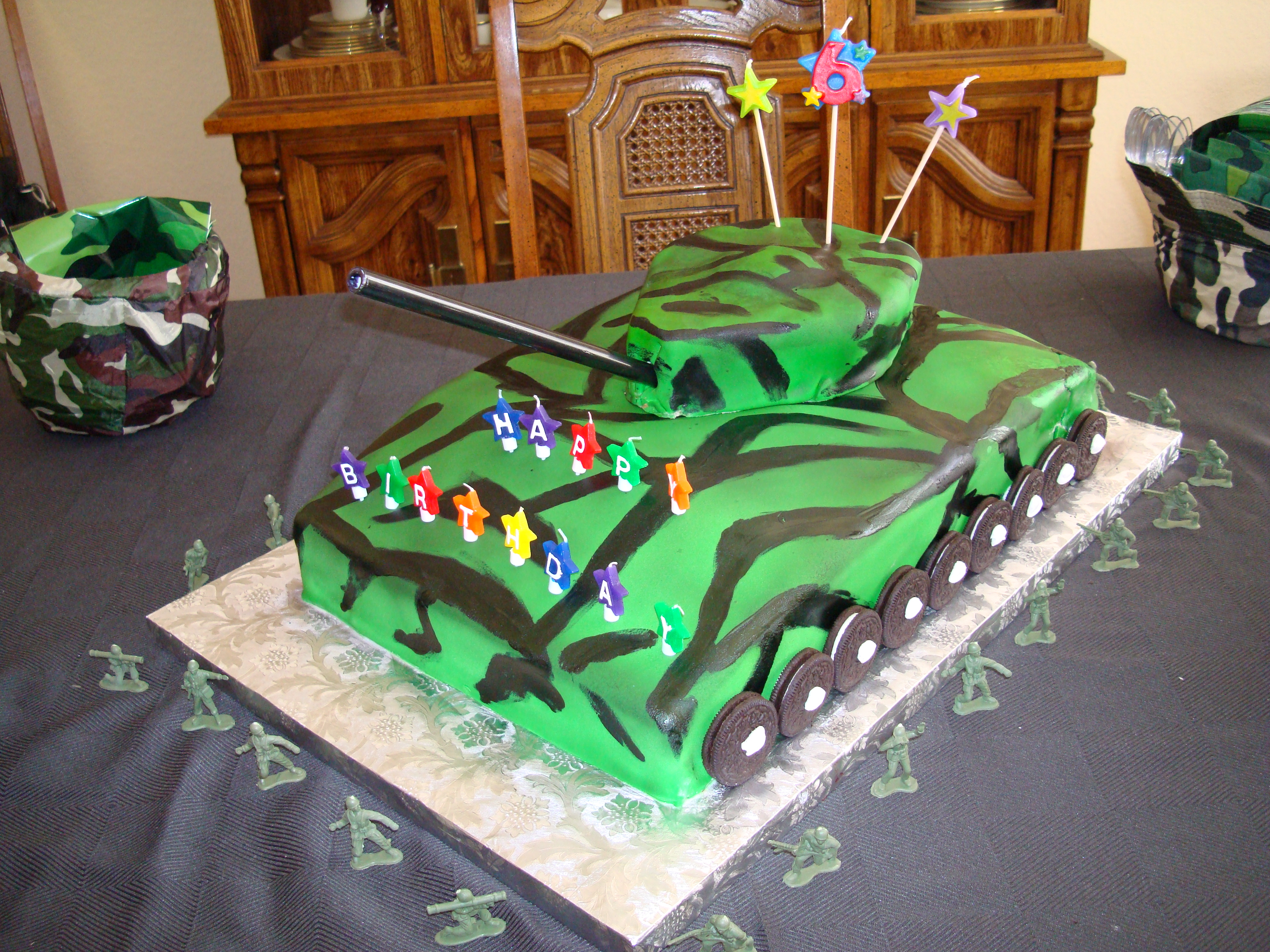 Excellent 11 Army Cakes For Little Boys Photo Boys Army Birthday Cake Personalised Birthday Cards Rectzonderlifede