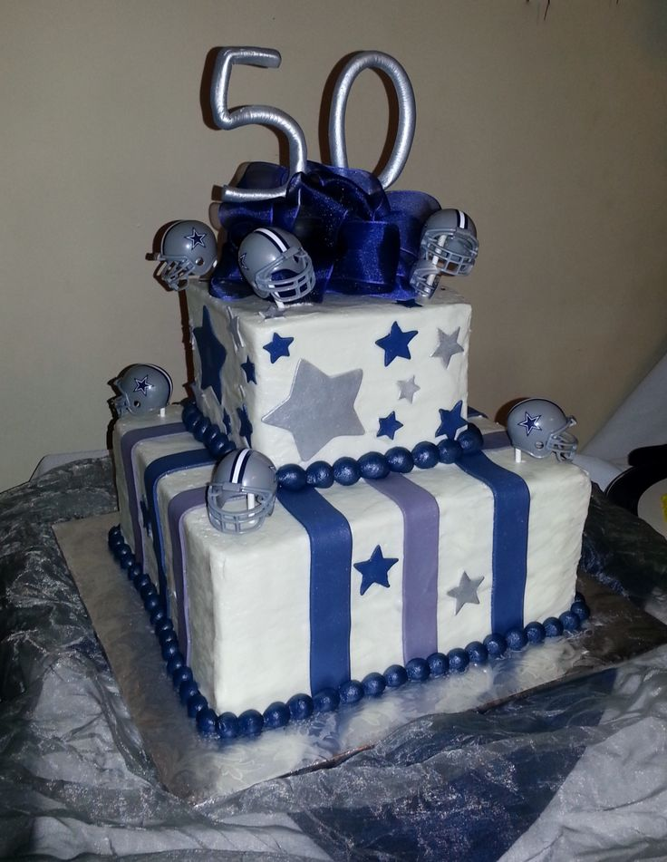 Dallas Cowboys 50th Birthday Cake