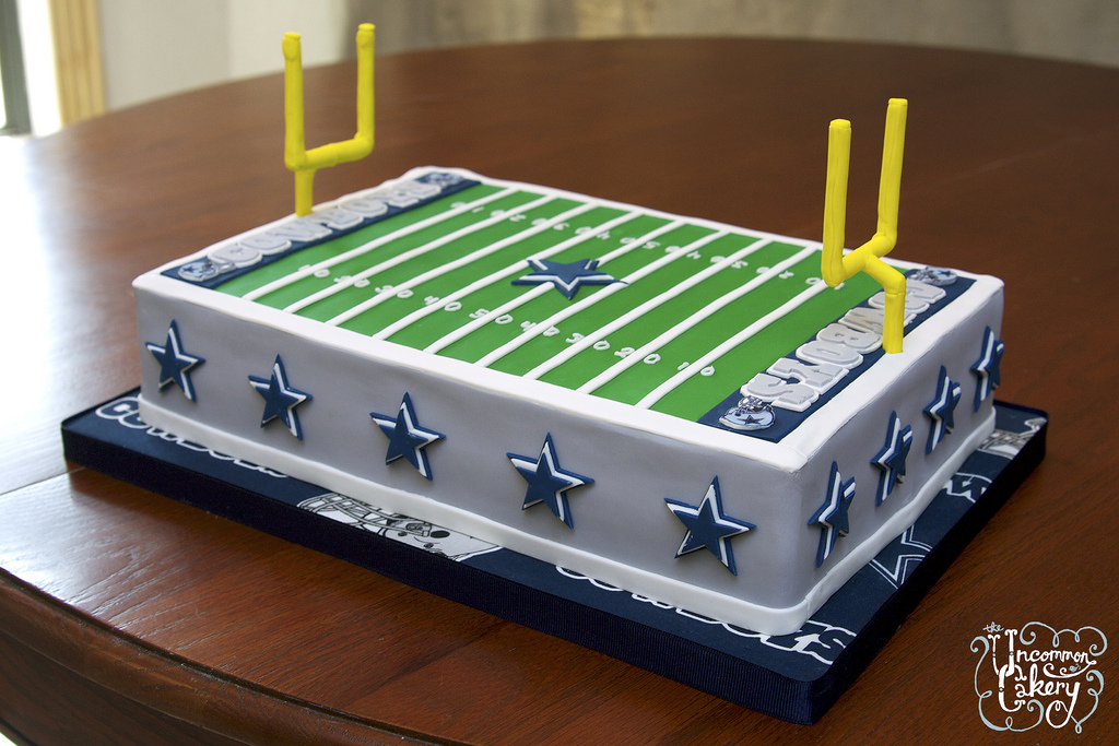 Dallas Cowboys Field Birthday Cake