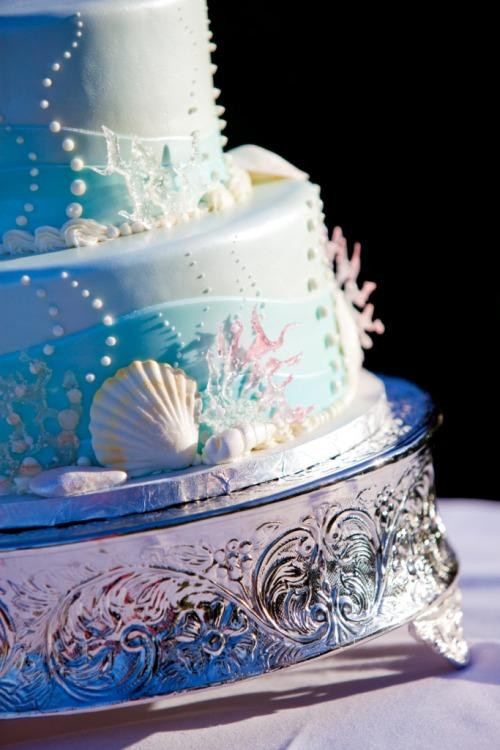 Disney Little Mermaid Themed Wedding Cake