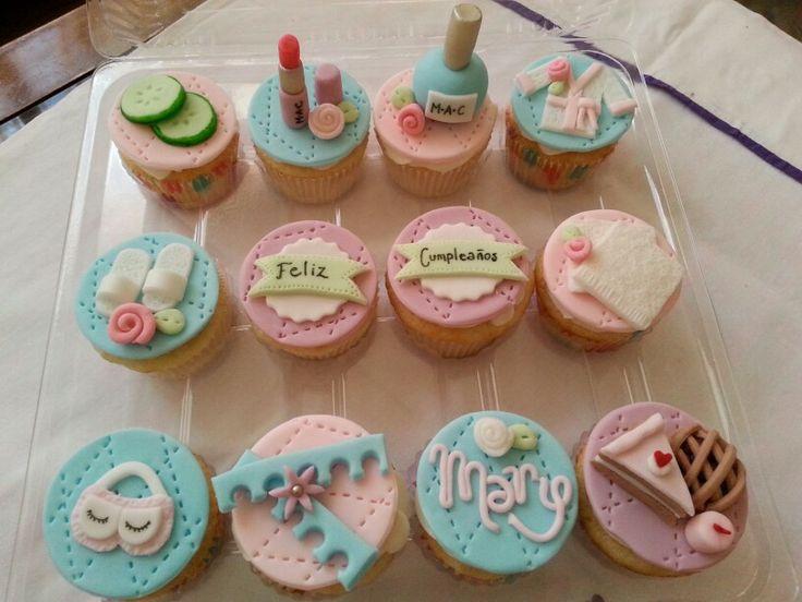 Admirable 7 Spa Birthday Party Cupcakes Photo Diy Cupcake Bath Bomb On Personalised Birthday Cards Xaembasilily Jamesorg