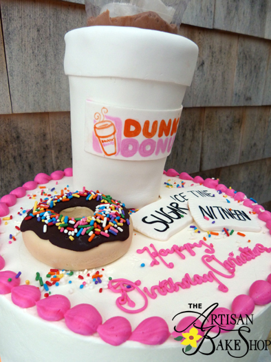 Dunkin Donuts Coffee Birthday Cakes