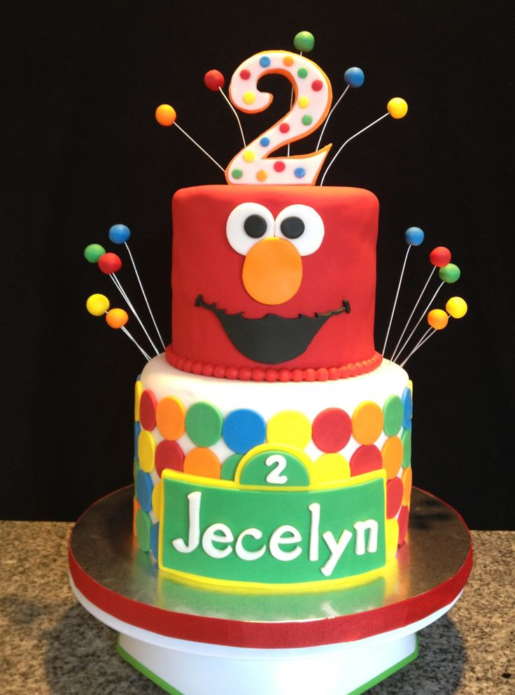 6 Two Tier Elmo Birthday Cakes For Boys Photo