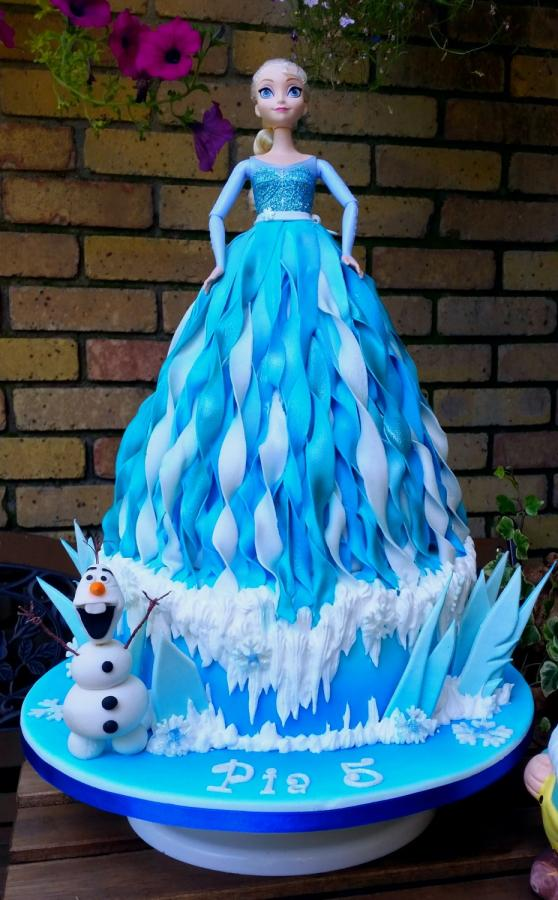5 Photos of Elsa Doll Cakes With Frosting