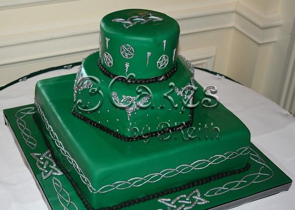 11 Irish Design Cakes Photo Emerald Green Wedding Cake Celtic