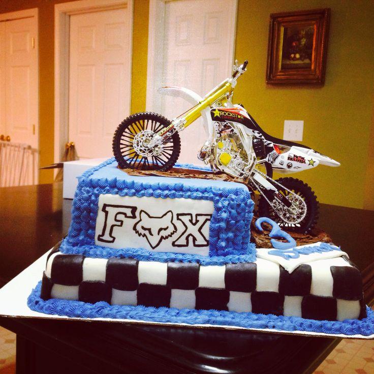 Magnificent 13 Fox Racing Dirt Bike Cakes Photo Fox Racing Dirt Bike Personalised Birthday Cards Paralily Jamesorg