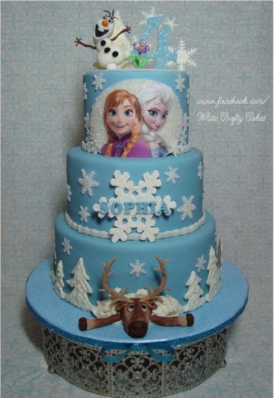 11 Photos of The Frozen Movie Theme Cakes