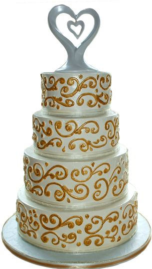 7 Photos of Buttercream Cakes With Black Scrolls
