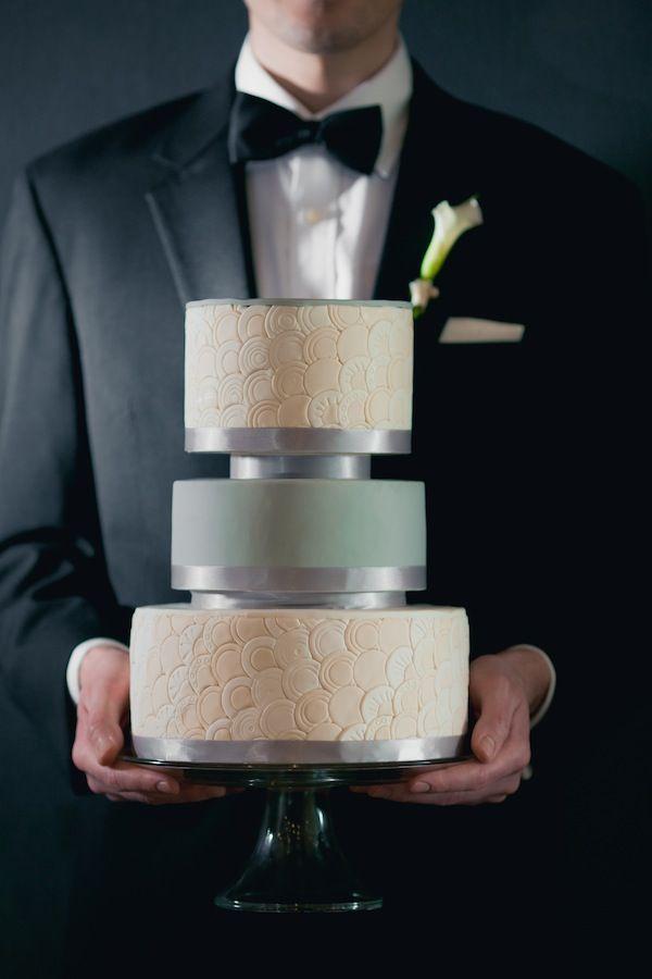 8 Two Men Wedding Cakes Photo Gay Wedding Cake Green White