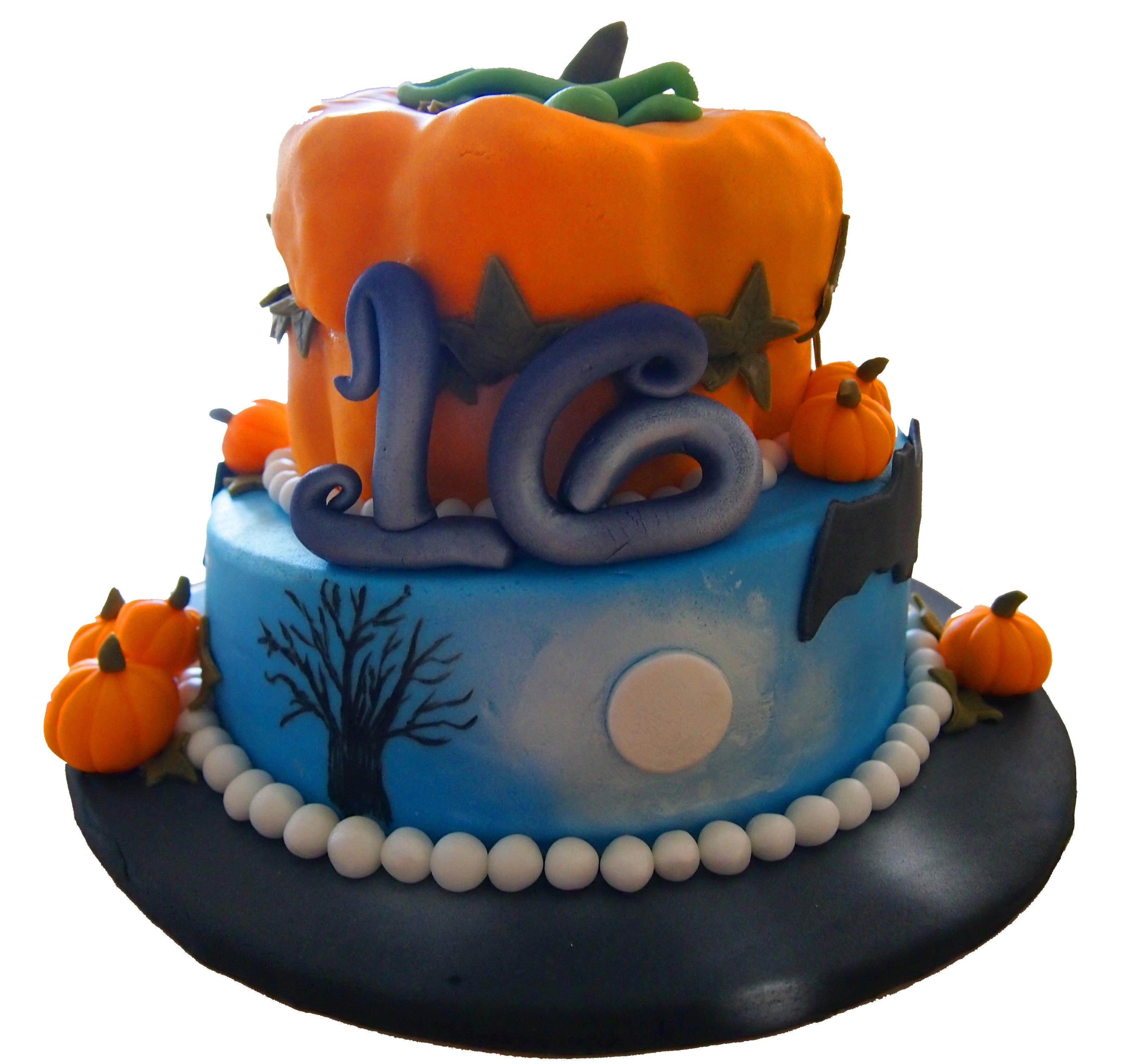 Admirable 9 Halloween Birthday Cakes 18 Photo Halloween Birthday Cake Personalised Birthday Cards Veneteletsinfo