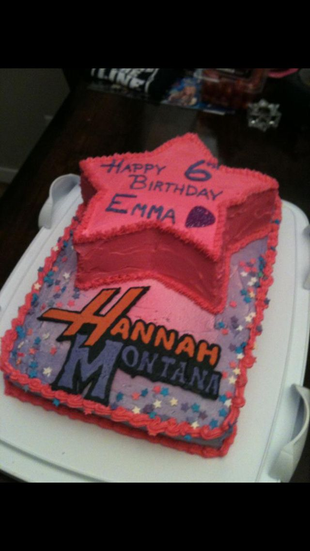 Incredible 7 Montana Birthday Cakes Photo Hannah Montana Birthday Party Birthday Cards Printable Inklcafe Filternl