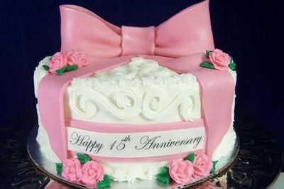 Hy 37th Wedding Anniversary Cake