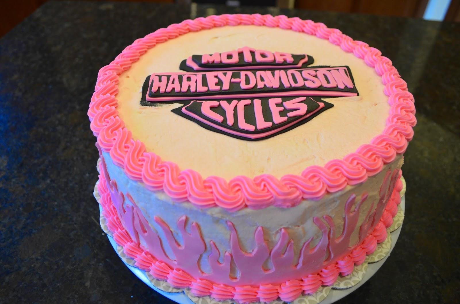 13 Pink Harley Cakes Photo Pink Harley Davidson Birthday Cake