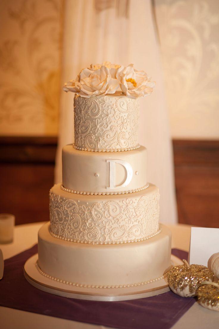 11 Elegant Wedding Cakes Piping Photo Elegant White Wedding Cake