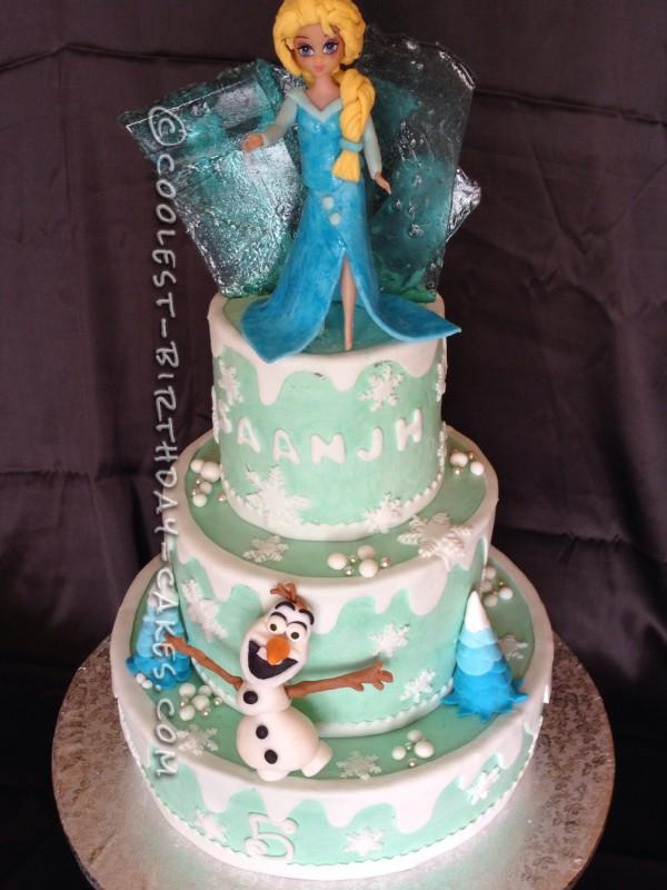 Little Girl Birthday Cake Frozen
