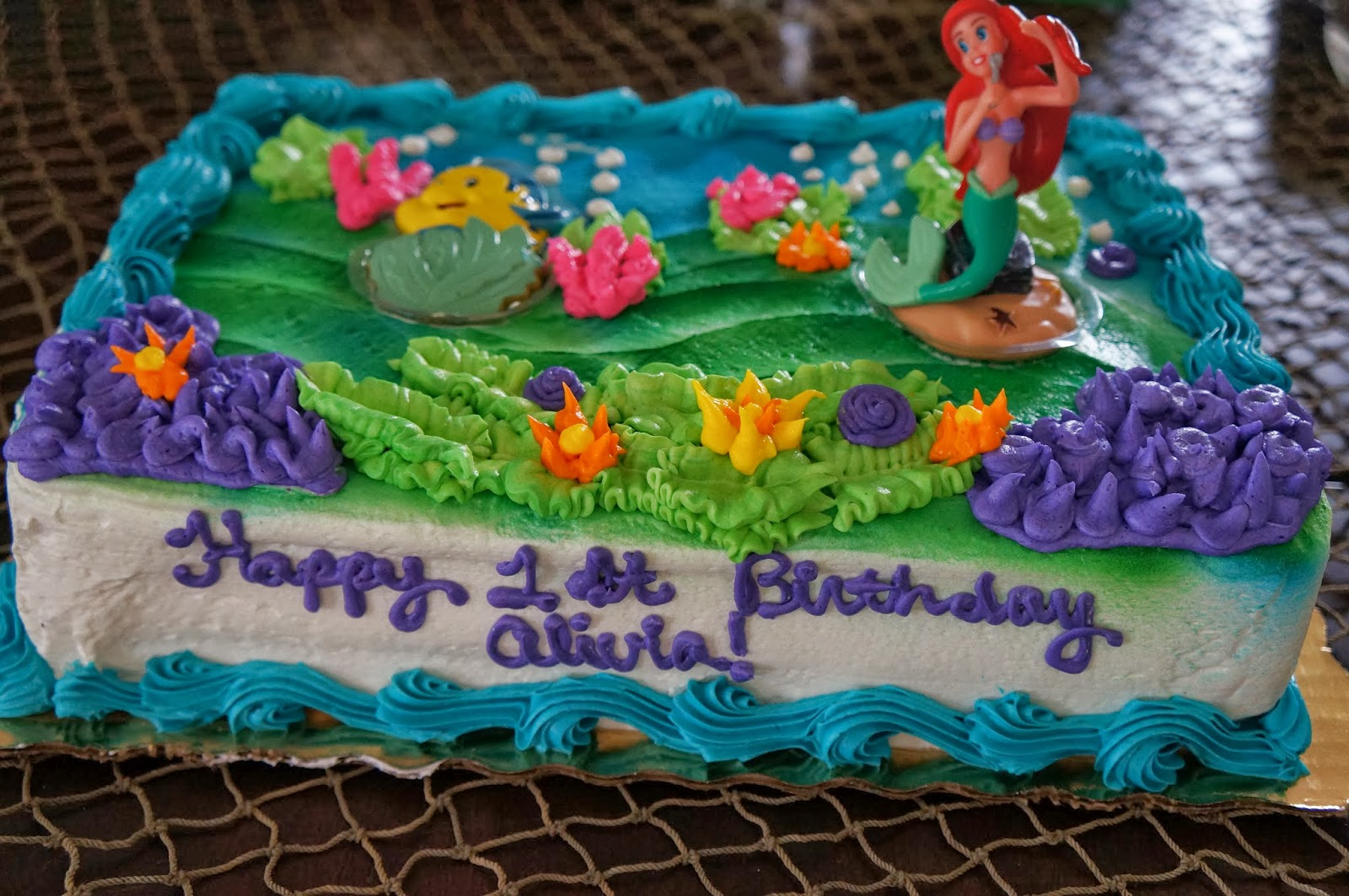 Little Mermaid Cakes From Publix Photo Cake JPG 1600x1063 Frozen Pull Apart