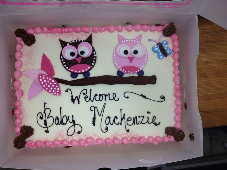 9 Owl Sheet Cakes Baby Shower Cake Photo Owl Baby Shower Sheet