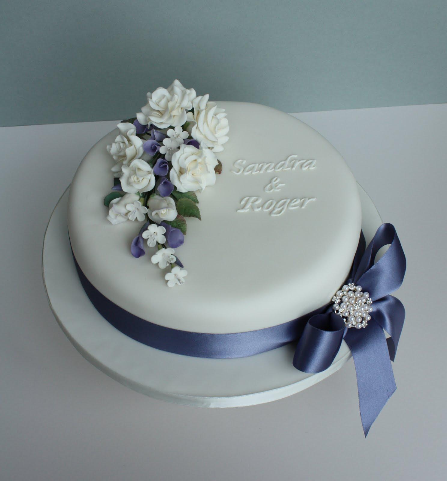 8 Elegant One Layer Wedding Cakes Photo Single Layer Wedding Cake