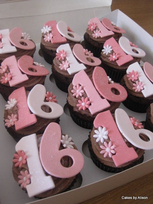 13 Cup Cakes For Girls Sweet 16 Photo Sweet 16 Cupcake Ideas