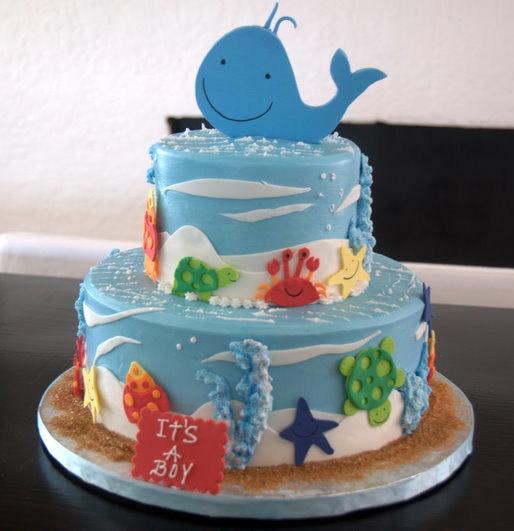 Under the Sea Baby Shower Cake Boy