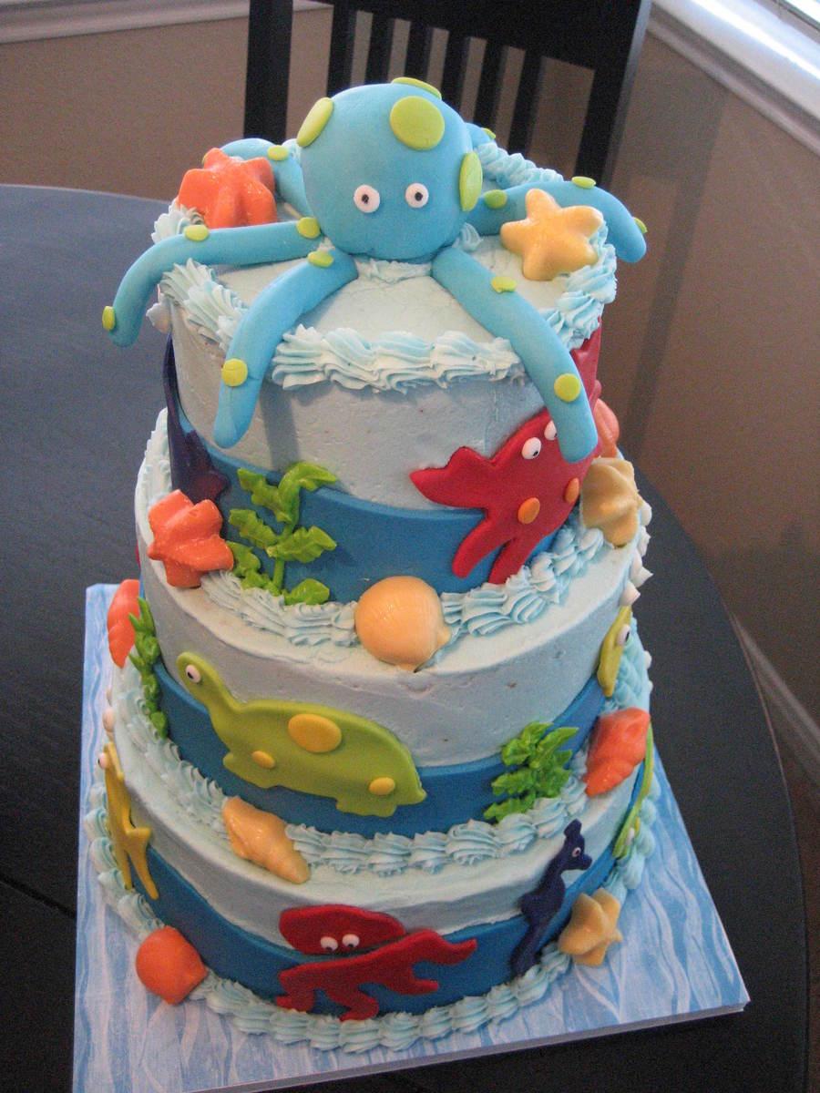 Under the Sea Baby Shower Cake Idea