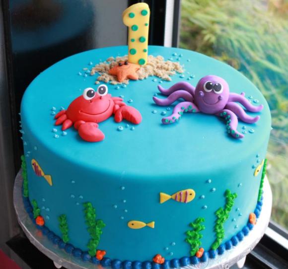 Under the Sea Birthday Cake Idea