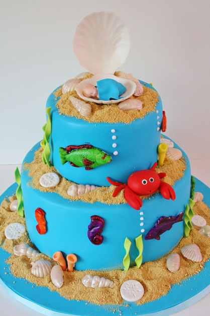 Under the Sea Themed Baby Shower Cake
