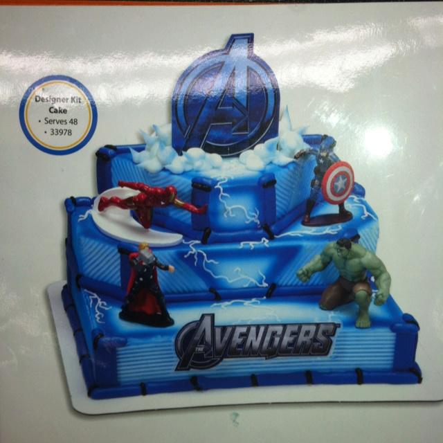 Fantastic 8 Avengers Cakes At Bakery Photo Walmart Avengers Birthday Cake Personalised Birthday Cards Cominlily Jamesorg