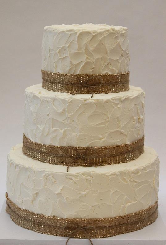 10 Coral Lace Burlap Wedding Cakes Photo Burlap And Lace Wedding