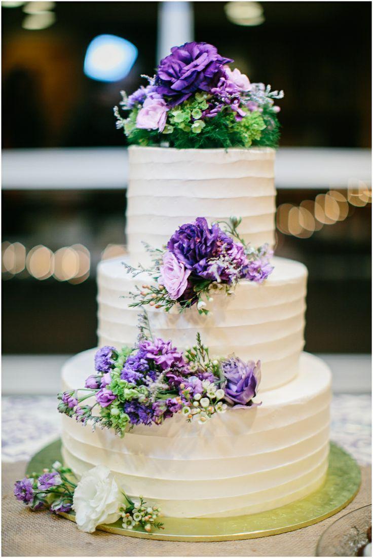 9 Spring Wedding Cakes Purple And White Photo Purple Wedding Cake