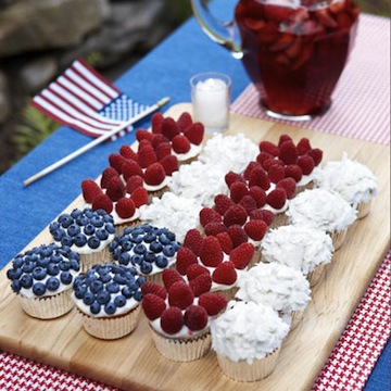 4th of July Cupcake Flag Cake