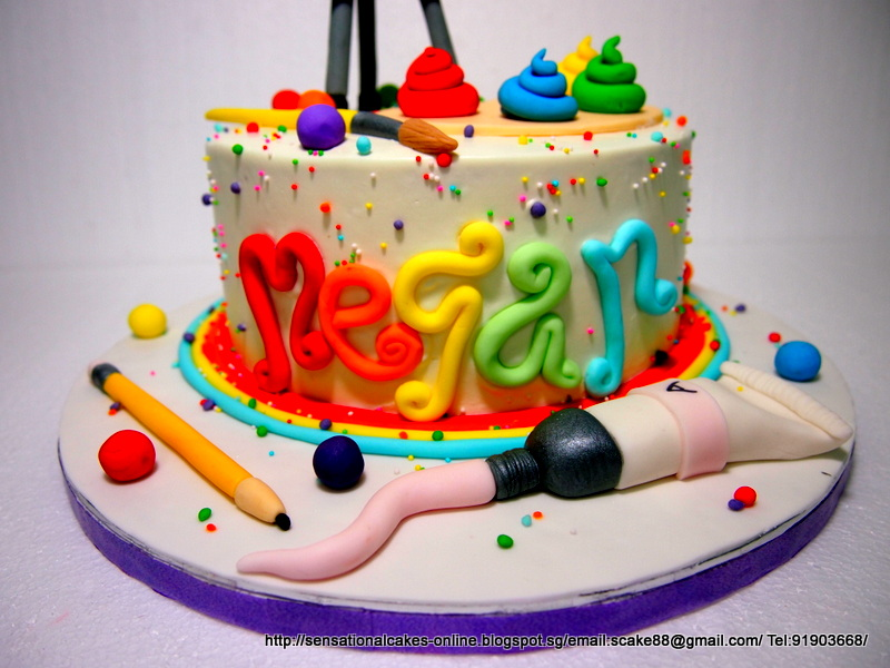 Artist Theme Birthday Cake