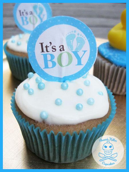8 Homemade Baby Shower Cupcakes Photo Baby Boy Shower Cupcake