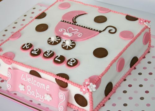 Baby Shower Cake Squares