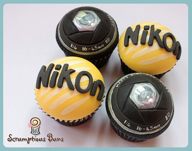 Camera Birthday Cupcake