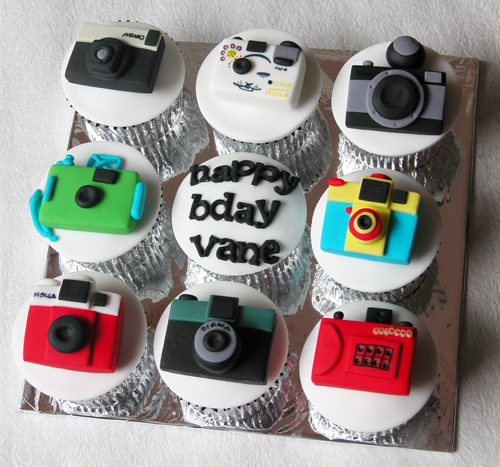 Camera Themed Birthday Cake