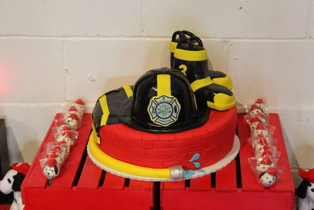 Strange 9 Firefighter Cakes For Adults Photo Firefighter Birthday Cake Funny Birthday Cards Online Elaedamsfinfo