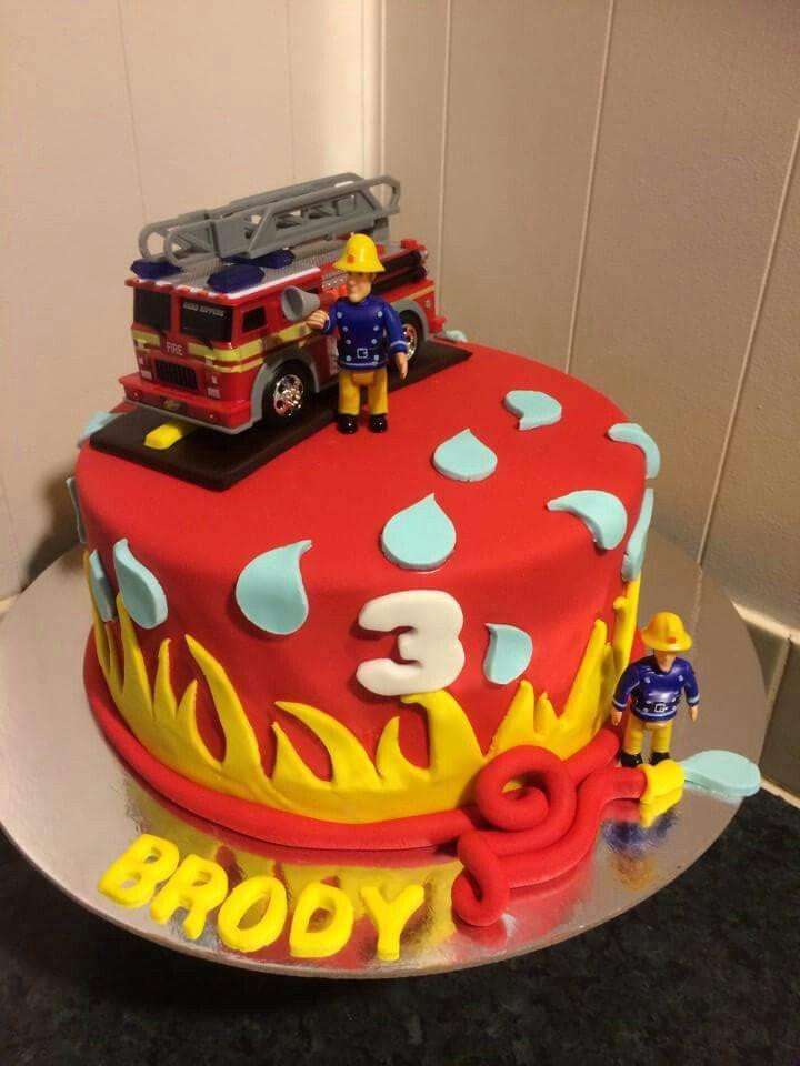 Pleasing 9 Sams Birthday Cakes Cake Photo Fireman Birthday Cake Ideas Funny Birthday Cards Online Elaedamsfinfo